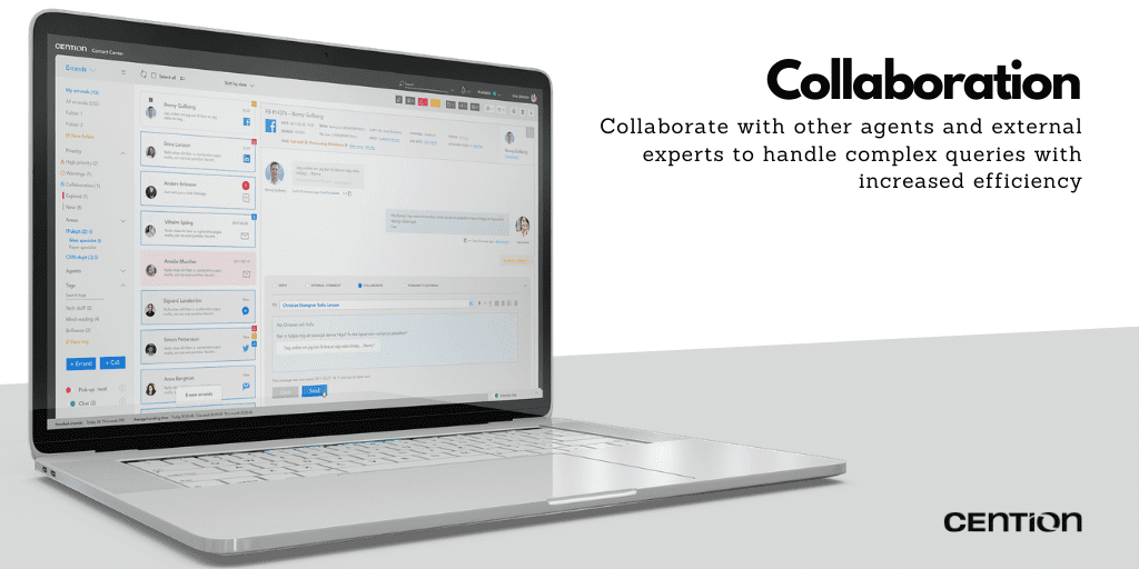 Collaboration on Cention: A Seamless Working Experience