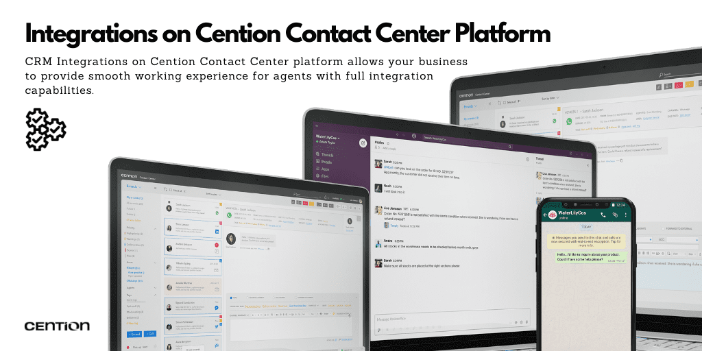 Integrations on Cention Contact Center Platform